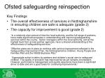 ofsted safeguarding reinspection