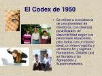 el codex de 1950