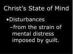 christ s state of mind