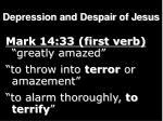 depression and despair of jesus