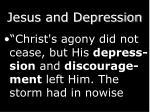 jesus and depression