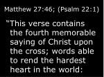 matthew 27 46 psalm 22 1