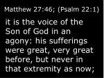 matthew 27 46 psalm 22 11