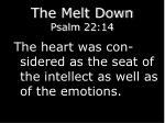 the melt down psalm 22 14
