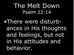 the melt down psalm 22 1411