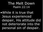 the melt down psalm 22 1412