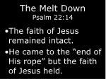 the melt down psalm 22 1413