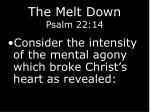 the melt down psalm 22 1414