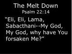 the melt down psalm 22 1416