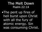 the melt down psalm 22 144