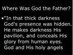 where was god the father
