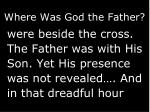 where was god the father1