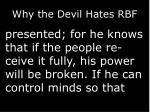 why the devil hates rbf2
