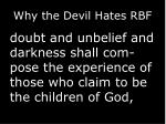 why the devil hates rbf3