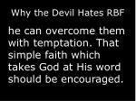 why the devil hates rbf4