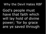 why the devil hates rbf5
