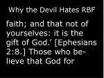 why the devil hates rbf6