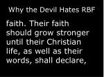why the devil hates rbf8