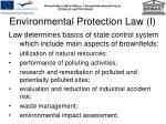 environmental protection law i