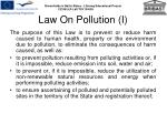 law on pollution i