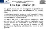law on pollution ii