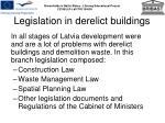 legislation in derelict buildings