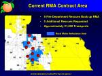 current rma contract area