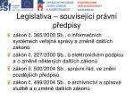 legislativa souvisej c pr vn p edpisy