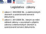 legislativa z kony