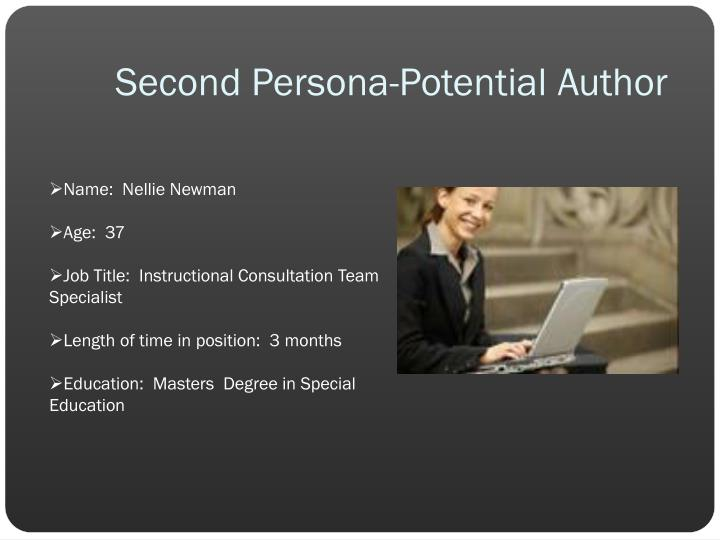 Second Persona-Potential Author