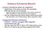 distance estimation results
