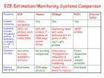e2e estimation monitoring systems comparison2
