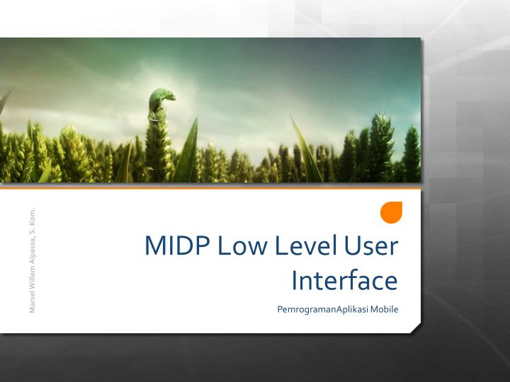midp low level user interface n.