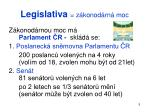 legislativa z konod rn moc