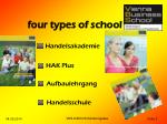 four types of school