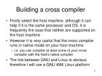 building a cross compiler