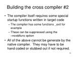 building the cross compiler 21