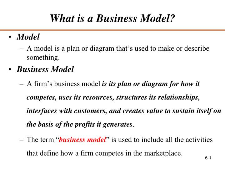 what is a business model n.