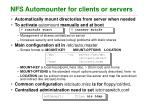 nfs automounter for clients or servers