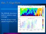 oct 7 gap flow