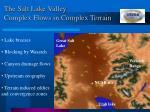 the salt lake valley complex flows in complex terrain