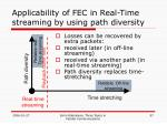 applicability of fec in real time streaming by using path diversity