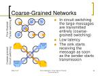 coarse grained networks
