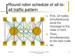 round robin schedule of all to all traffic pattern