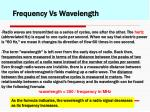 frequency vs wavelength