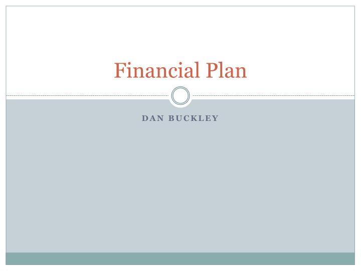 financial plan n.