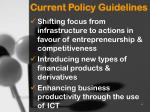 current policy guidelines