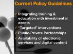 current policy guidelines1
