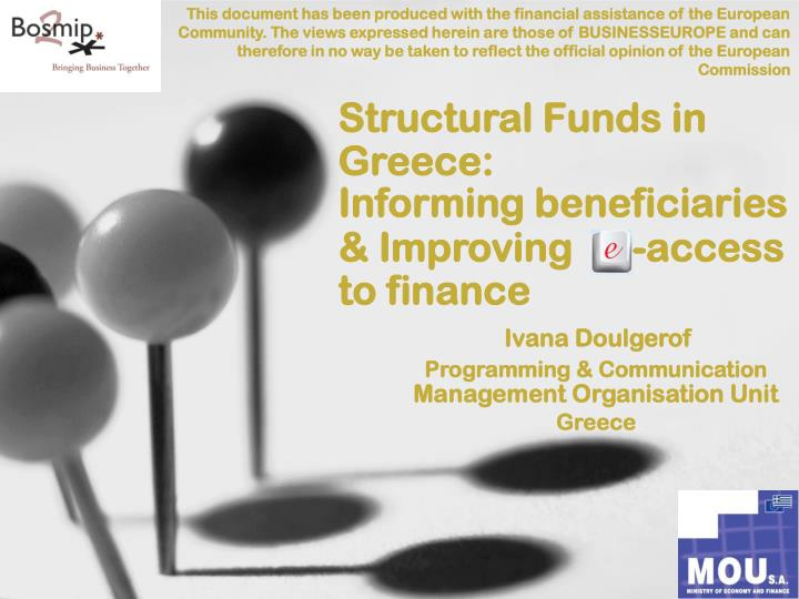 structural funds in greece informing beneficiaries improving access to finance n.
