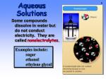 aqueous solutions1